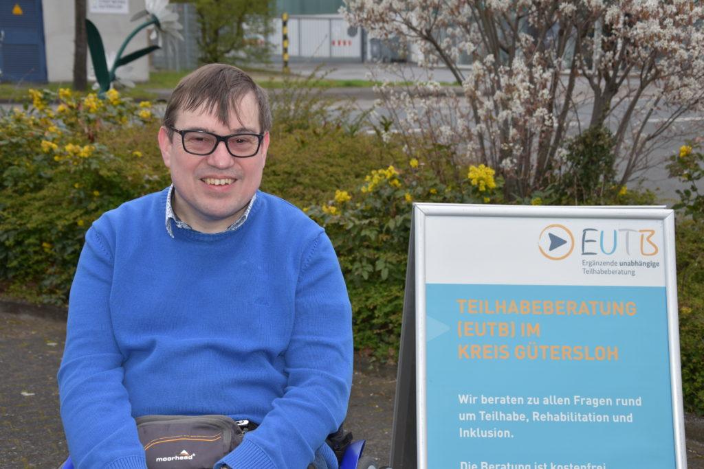 Vorfreude auf neue Aufgaben: Peer-Berater Jürgen Linnemann  Foto: Diakonische Stiftung Ummeln